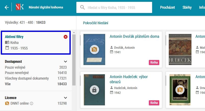 NDK - knihy vydané 1935-1955