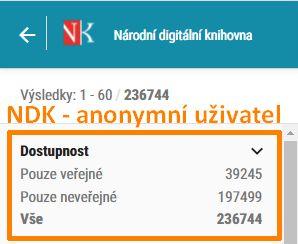 NDK - filtr Dostupnost
