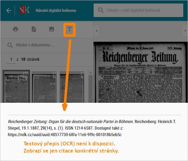 NDK - OCR není k dispozici