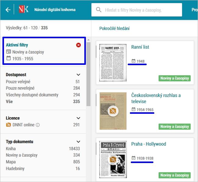 NDK - noviny a časopisy vydávané mezi lety 1935-1955