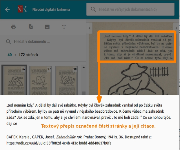 NDK - ukázka přepisu textu