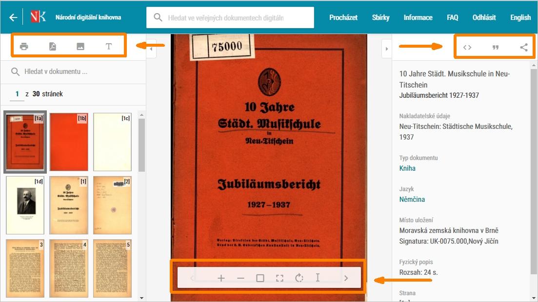 NDK - veřejný dokumument, kniha