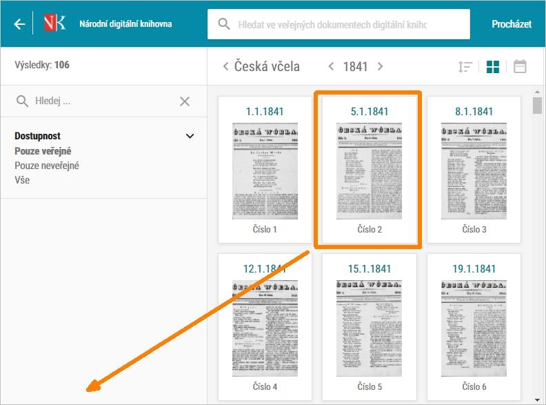 vytvoření PDF z veřejně přístupných časopisů a novin