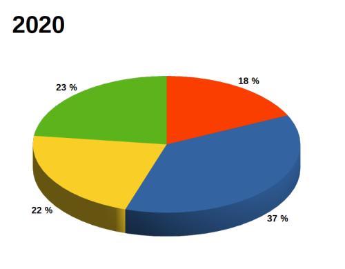 Graf: přístupnost webů knihoven v roce 2020