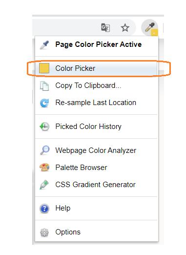 Obr. 2: Aktivace nástroje Color Picker