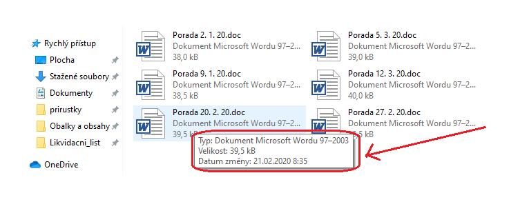 Obr. 6: Informace o souboru v Průzkumníku ve Windows
